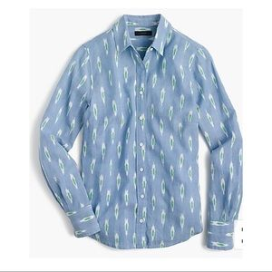 J Crew- Ikat Perfect Button Down Shirt